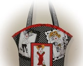 FREE Shipping USA Canada - J Castle Boutique Bag - Loralie Harris Designer Fabric - - - (Ready to Ship)