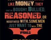 Print typography Dark Night Batman Birthday Gift art  Quote cotton canvas giclee poster Pennyworth