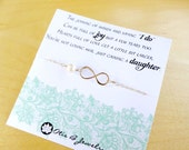 Mother of the groom gift from bride, infinity bracelet, bride to mother in law gift, wedding gift for mother in law, Briguysgirls, otis b