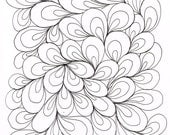 Learn to quilt Paisley by drawing Free Motion Quilting FMQ aid PDF by author Molly Hanson activity sheet for quilters
