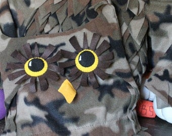 READY TO SHIP size 18 months Camo Owl,  Owl Hat, Boy Halloween Costume, Girl Owl Costume, Harry Potter, Costume,   Camouflage Owl Costume