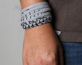 Gray Bracelet, Wife Gift, Gift Mom, Gift Sister, Wrap Bracelet, Cuff Bracelet, Womens Bracelet, Bracelet for Women, Girlfriend Gift
