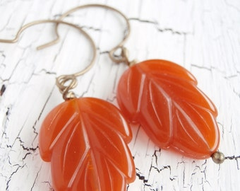Fall Leaf Earrings - Shades of Autumn