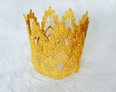 Newborn - Baby - Gold Lace Crown