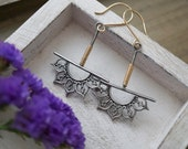 Silver Dangle Earrings Sterling Silver And Gold Filled Pendulum Earrings