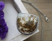 RESERVED FOR FRAN Linda Marie Plume Agate Pendant