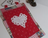 CLOSEOUT Patriotic Americana Mini Wall Hanging Quilt in Red White and Blue