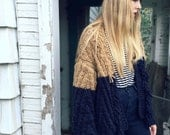 Oversized Fringed Grandpa Cardigan