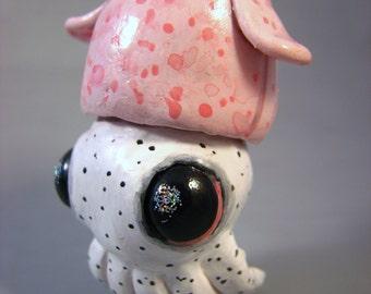 Polymer Clay Pink Cuttlefish Figurine