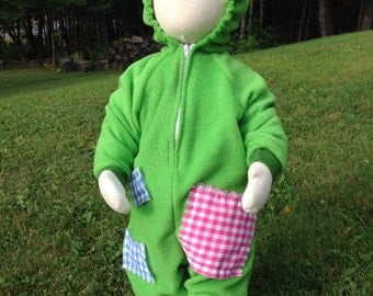 Custom Green with Patches Costume
