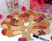 Wedding  Tree Guest Book Puzzle  -- Custom Painted - 20-150 Pieces -  Guest Book Alternative
