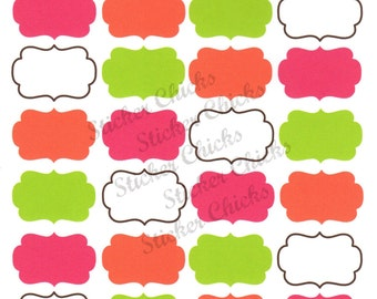 Bright Fall Labels/Tags/Frame Planner Stickers