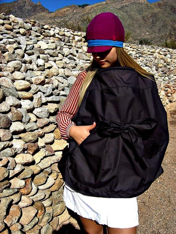 Nursing Cover-Breastfeeding Cover-Nursing Tops-Nursing Cover Up-Breastfeeding Cover-Black Breastfeeding Covers-Feeder Frock-Bow Tie Pocket