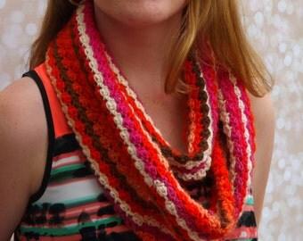 Wool Infinity Scarf - Multicolored wool cowl - Fall colors - Infinity Cowl Fall Fashion Cowl layering cowl layering infinity scarf