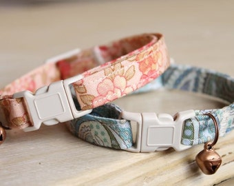 2 for 22 - Two Cat Collars for Twenty Two Dollars, Any Pattern + Any Bell or Charm