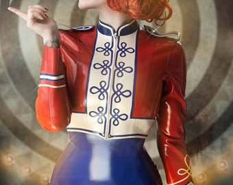 Lady Lucie Latex Marching Band Jacket