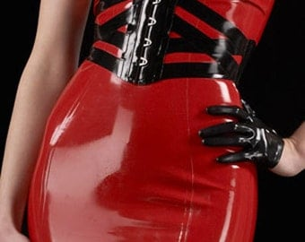 Lady Lucie Latex Webbed Corset Belt