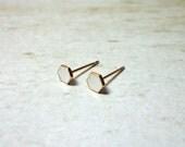 White Hexagon Stud Earrings, Dainty Earrings