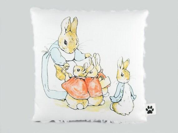 Peter Rabbit Nursery Decor - Little Decorative Pillow - Beatrix Potter - Baby Shower