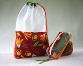 One for You Floral At-A-Glance Knitting/Crochet/Spinning Project Bags Large & Zippered Accessory
