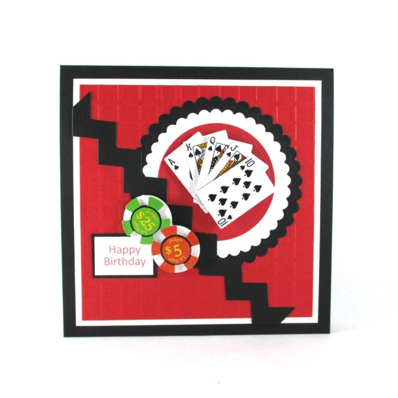 Birthday Card Poker Texas Hold Em Poker By BellaCardCreations