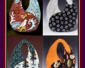 YIN-YANG HANDBAGS-Sewing Pattern-Art To Wear Bag-Use Kimono-Vintage Textiles-Barkcloth-Heirloom & Special Fabric Scraps-Uncut