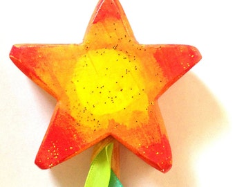 Magic want star orange and yellow sunshine