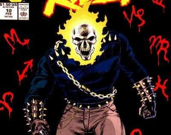 Issue #10 GHOST RIDER Comic Book in Vf-Nm Condition