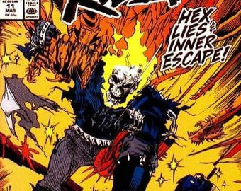 Issue #11 GHOST RIDER Comic Book in Vf-Nm Condition