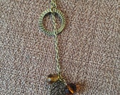 Fall leaf beaded necklace