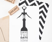 Wine Country Save The Date, Vineyard Wedding Save The Date, Wine Opener Save The Date
