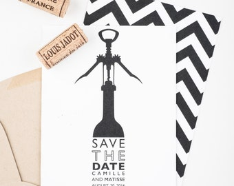 Wine Country Save The Date, Vineyard Wedding Save The Date, Wine Opener Save The Date, Rustic Vineyard Invitation, Wedding Announcement