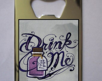 Alice In Wonderland Drink Me Bottle Opener