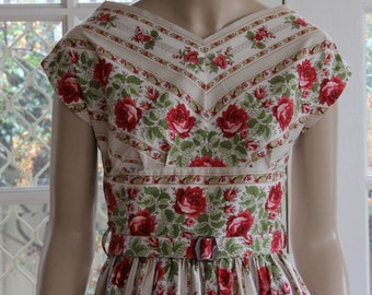 The UNA Dress . A Classic 1950's vintage styled  Reproduction