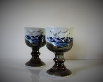 Set of two VINTAGE ceramic CUPS