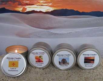 NEW MEXICO SAMPLER (four 2-oz soy candles)