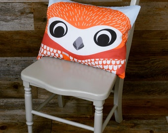 "Owl Pillow - Bird Pillow, Throw Pillow, Decorative Pillow - 12"" x 16"""