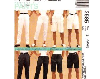 Womens Pants Pattern McCalls 2585 Perfect Fit Crop Pants Shorts Trousers Side Pockets Palmer Pletsch Women Sewing Pattern Size 8 10 12 UNCUT
