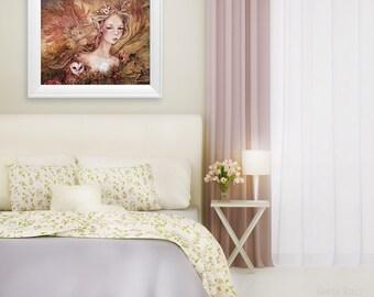 SALE Titanias Daughter, 8 x 10 inch Fairy Owl Illustration Art Print