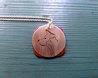 Cat in Dog Pendant