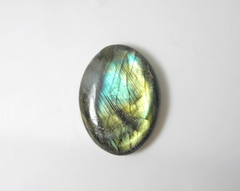 Labradorite natural stone oval cabochon, green aqua, high dome, free form, designer cab, handcut stone cab, jewelry design
