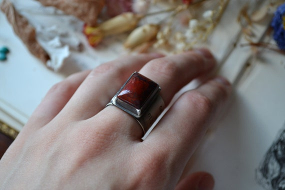 OCTOBER SALE- To Make Much of Time Ring. jasper and silver