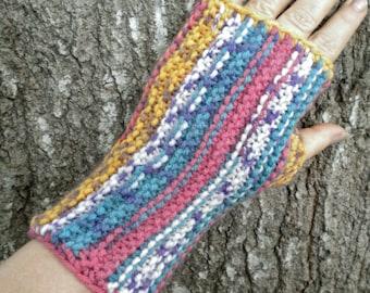 Gloves Fingerless Dusty Stripe Mitts