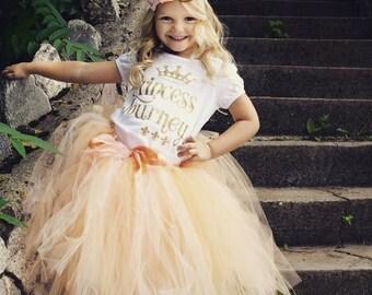 Personalized Princess Shirt, Girls Birthday Shirt, Gold Glitter Shirt