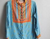 Vintage 70s Vera Neumann Tunic Shirt 100% cotton