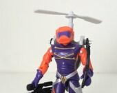 GI Joe Action Figure - Cobra Annihilator with Original Card Back and File Card Cutout - 1989 Hasbro / GI Joe Toy