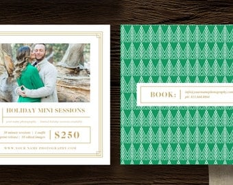 Holiday Mini Session Templates for Photographers - 5x5 Photography Flyer - Holiday Designs for Professional Photographers