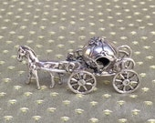Princess Dream Vintage Miniature Silver Cinderella Pumpkin Carriage