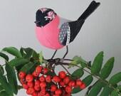 FABRIC BIRD - Bullfinch Sculpture - Made to Order