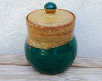 Ceramic Lidded Container, Green, Brown, Funeral Urn, Lidded Container, Urn, Ceramic, Pottery, Handmade By Big Dog Pots Pottery bigdogpots